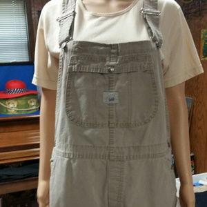 Lee beige short overalls. Size XL R